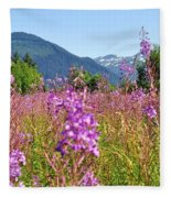 Fireweed Field Fleece Blanket