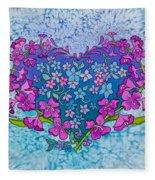 Fireweed Heart Fleece Blanket