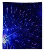Fireworks At Night 1 Fleece Blanket