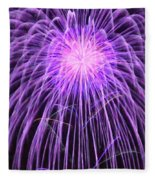 Fireworks At Night 2 Fleece Blanket