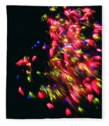 Fireworks At Night 4 Fleece Blanket