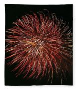 Fireworks At Night 5 Fleece Blanket