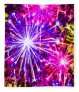 Fireworks At Night 7 Fleece Blanket