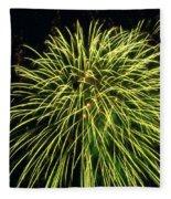 Fireworks At Night 8 Fleece Blanket