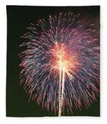 Fireworks At Night 9 Fleece Blanket