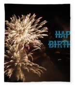 Fireworks Birthday Fleece Blanket