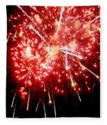 Fireworks Display At Niagara Falls Fleece Blanket