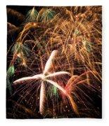 Fireworks Exploding Everywhere Fleece Blanket