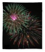 Fireworks Exploding Fleece Blanket