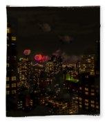 Fireworks From My Window 1 - Manhattan Fleece Blanket