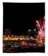 Fireworks Over The Kansas City Plaza Lights Fleece Blanket