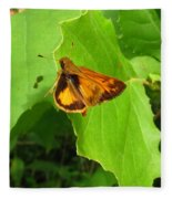 Firey Skipper Butterfly Fleece Blanket