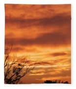 Firey Sunset Fleece Blanket