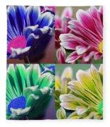 Firmenish Bicolor Pop Art Shades Fleece Blanket