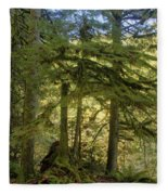 Firs And Ferns Fleece Blanket