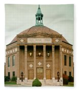First Baptist Church Of Asheville North Carolina Fleece Blanket