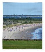 First Beach Newport Ri Fleece Blanket
