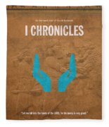 First Chronicles Books Of The Bible Series Old Testament Minimal Poster Art Number 13 Fleece Blanket