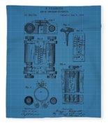 First Computer Blueprint Patent Fleece Blanket