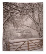 First Fall Of Snow Fleece Blanket