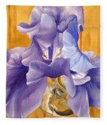 First Iris Of The Season Fleece Blanket