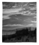 First Light At Cape Cod Beach Bw Fleece Blanket