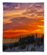 First Light At Cape Cod Beach  Fleece Blanket