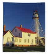 First Light At Whitefish Point Fleece Blanket
