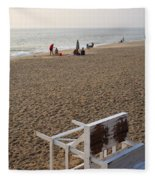 First On The Beach At Bethany Beach In Delaware Fleece Blanket