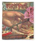 First Pick Cigar Label Fleece Blanket