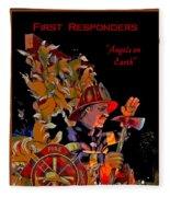 First Responders - Angels On Earth Fleece Blanket