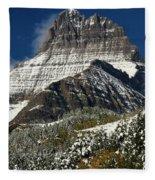 First Snow At Mount Wilbur  Fleece Blanket