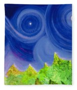 First Star By  Jrr Fleece Blanket