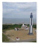 First State Landing  Lighthouse Fleece Blanket