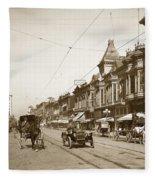 First Street Downtown San Jose California Circa 1905 Fleece Blanket