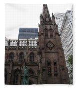 First Trinity Church Nyc Fleece Blanket