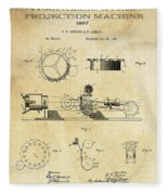 First True Motion Picture Projector Patent  1897 Fleece Blanket