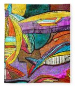 Fish And Chips Fleece Blanket