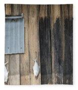Fish Drying Outside Rustic Fisherman House Fleece Blanket