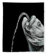 Fish Head Fountain Fleece Blanket