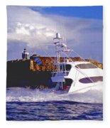 Fish Hunter Fleece Blanket