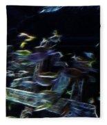 Fish In Aquarium Fleece Blanket
