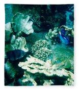 Fish In The Coral Fleece Blanket