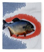 Fish Mount Set 12 B Fleece Blanket