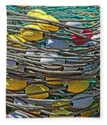 Fish Net Hdr Fleece Blanket