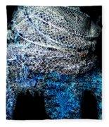 Fish Net Santorini Island Greece  Fleece Blanket