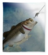 Fish On Fleece Blanket