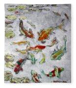 Fish Pond V2 Fleece Blanket