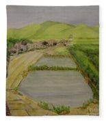 Fish Ponds Fleece Blanket