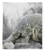 Fish Sculpture Fleece Blanket
